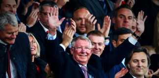 Sir Alex Ferguson saat tiba di Old Trafford untuk menyaksikan pertandingan antara Manchester United vs Wolves