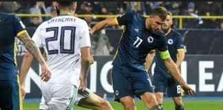 Dua gol Edin Dzeko bawa Timnas Bosnia-Herzegovina kalahkan Timnas Irlandia Utara, 2-0, di ajang Uefa Nations League, Selasa (16/10).