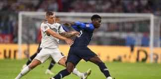 Timnas Jerman bukukan rekor buruk usai dikalahkan Timnas Prancis di laga lanjutan Uefa Nations League di Paris, Rabu (17/10) dinihari.