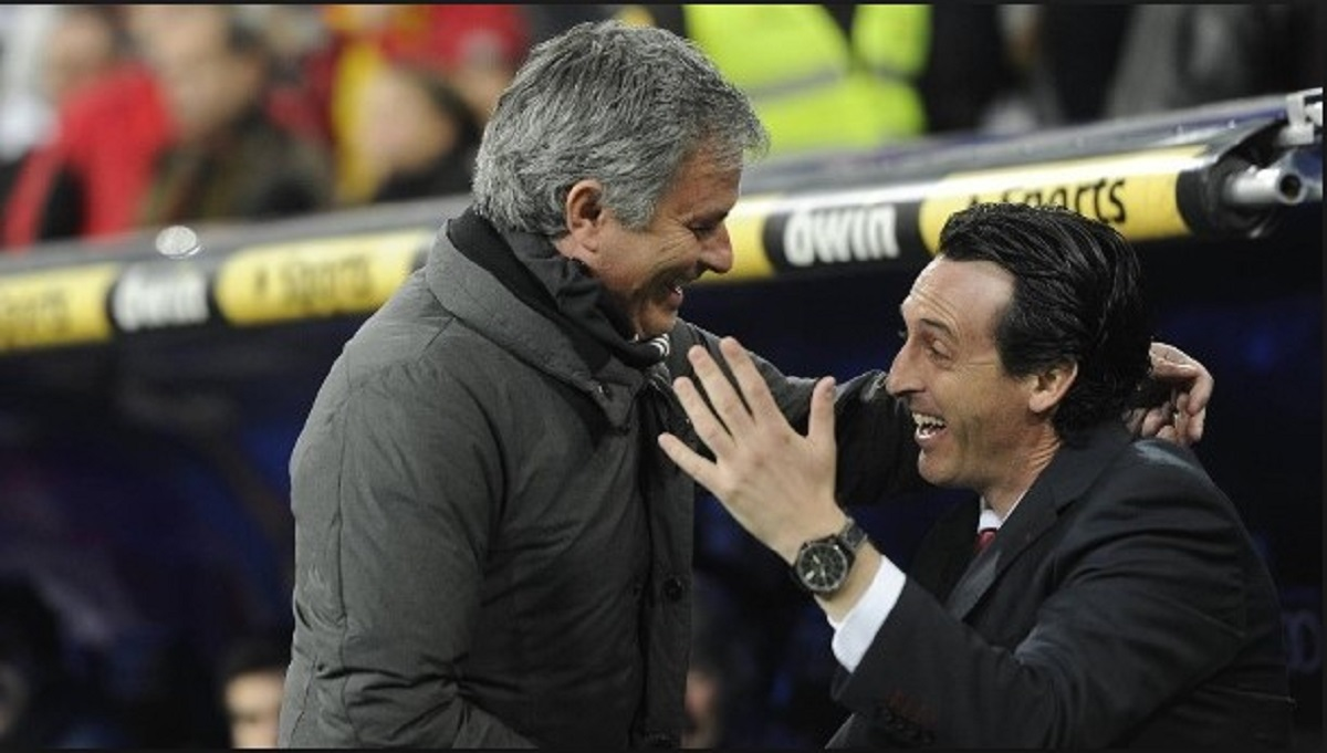 Image result for emery and mourinho