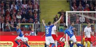 Serangan detik-detik terakhir pertandingan berhasil membawa Gli Azzurri menang 1-0 atas tuan rumah Polandia di ajang UEFA Nations League, Senin dinihari