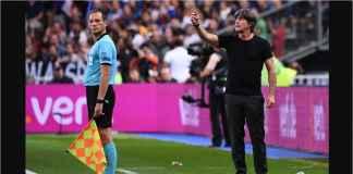 Joachim Low pada pertandingan Prancis vs Jerman pada ajang UEFA Nations League, Rabu