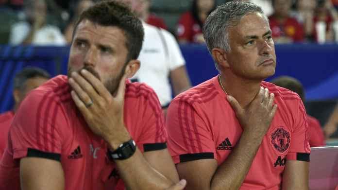 Michael Carrick dan Jose Mourinho