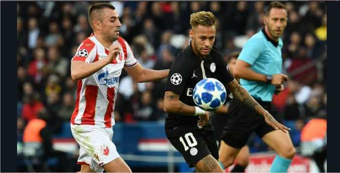 Neymar menetak hattrick dalam laga PSG vs Red Star Belgrade, yang kini mendapat tudingan pengaturan skor