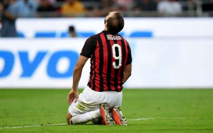Higuain cedera saat laga antara Udinese vs AC Milan, Liga Italia
