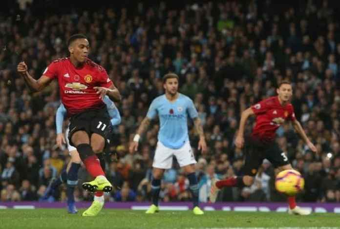 Anthony Martial Gabung 2 Grup Elit Lewat Golnya ke Gawang Manchester City