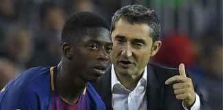 Ernesto Valverde: Semua di Barcelona Bantu Ousmane Dembele