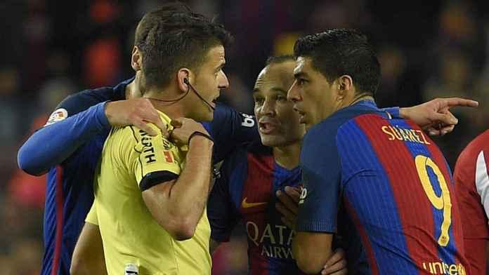Atletico Madrid vs Barcelona Dipimpin Wasit Fans Real Madrid