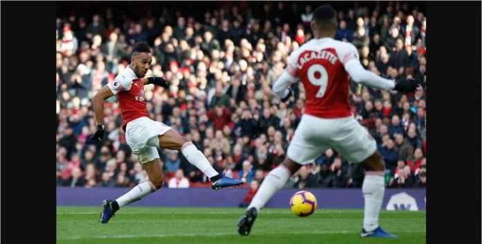 Aubameyang Belum Lewati Mohamed Salah di Top Skor Liga Inggris