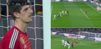 Kiper Real Madrid Wajahnya Memar, Blok Tendangan Pemain Valencia Dengan Wajah