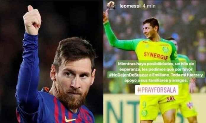 Lionel Messi Minta Pencarian Pemain Baru Cardiff City Emiliano Sala Dilanjutkan