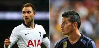 Real Madrid Gunakan James Rodriguez untuk Gaet Christian Eriksen dari Hotspur