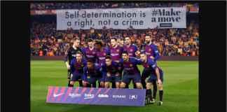 El Clasico Dimanfaatkan Sayap Militan Pendukung Barcelona