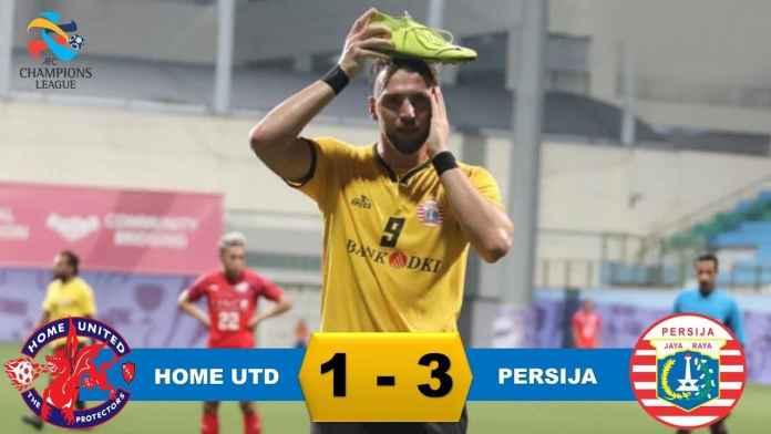 Hasil Home United vs Persija Jakarta di babak kualifikasi Liga Champions Asia
