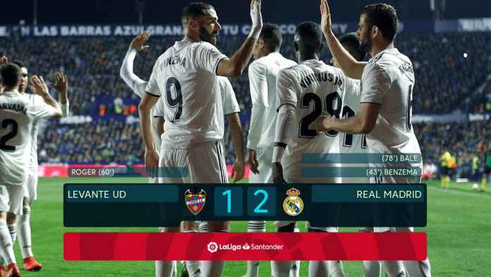 Hasil Levante vs Real Madrid - Liga Spanyol