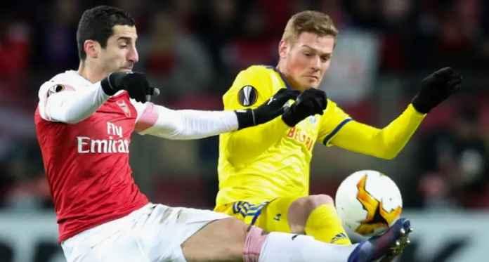 Prediksi Arsenal vs BATE Borisov di Liga Europa 22 Februari 2019