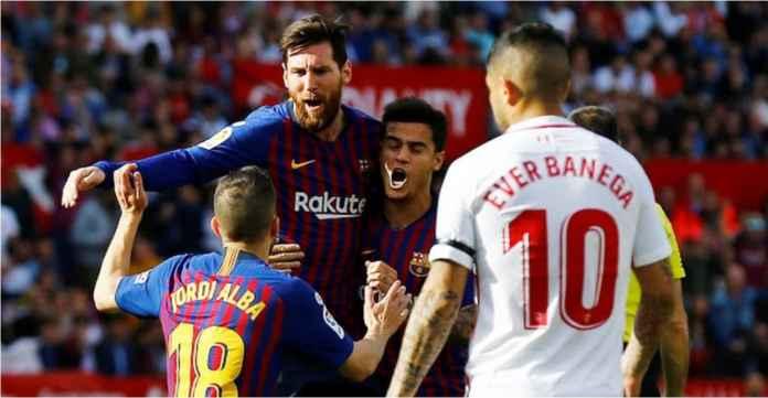 Berita Sevilla 2-1 Barcelona, Lionel Messi Cetak Gol Tapi Blaugrana Tertinggal