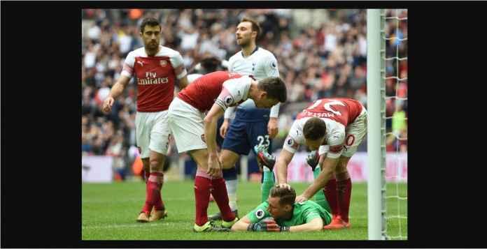 Lihat Kiper Arsenal Bergaji Rp 421 Milyar Cegah Dua Serangan Tottenham