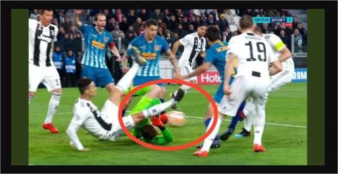 Cristiano Ronaldo Sudah Bikin Drama Menit Kelima Laga Juventus vs Atletico