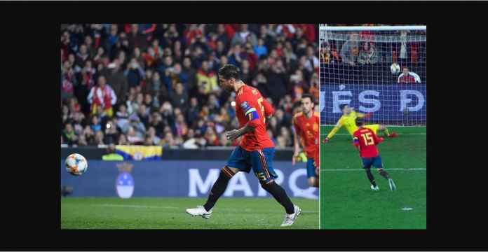 Sergio Ramos Cetak Sejumlah Rekor Saat Bela Spanyol Tadi Malam