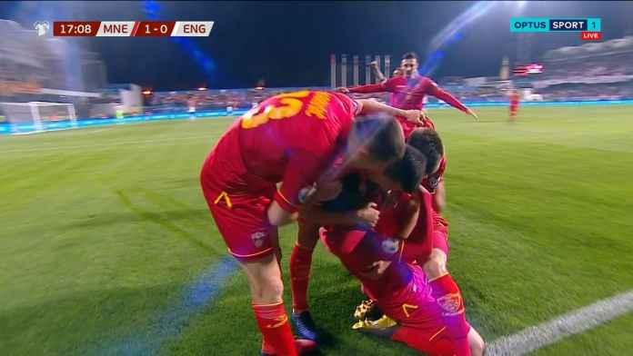 Hasil Montenegro vs Inggris di Kualifikasi Piala Eropa 2020