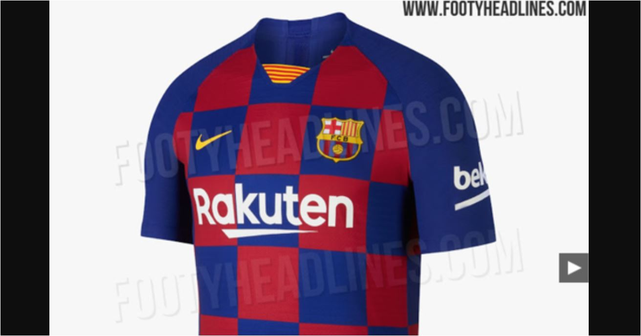 Jersey Terbaru Barcelona Dikecam Mirip Seragam Timnas Kroasia, Lihat!