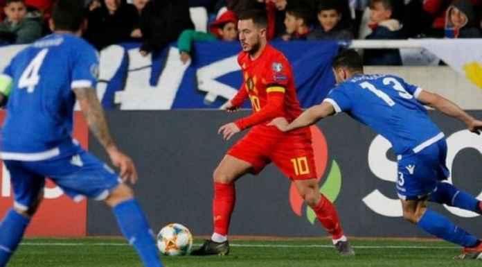 Bintang Chelsea Eden Hazard Cetak Gol di Tampilan ke-100 untuk Timnas Belgia