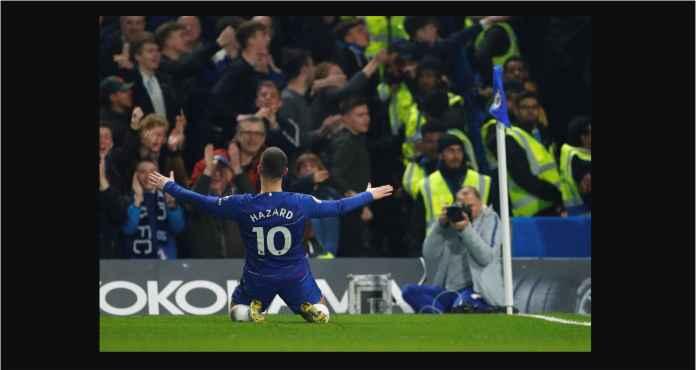 Lihat Eden Hazard Meliuk-liuk Lewati Lima Pemain West Ham, Cetak Gol Chelsea