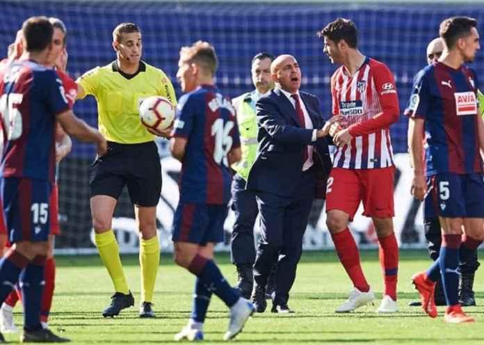 Wasit Spanyol Disanksi Dua Laga Akibat Toyor Tengkuk Pemain Atletico Madrid