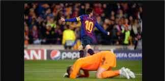 Lionel Messi Empat Menit Dua Gol ke Gawang Manchester United