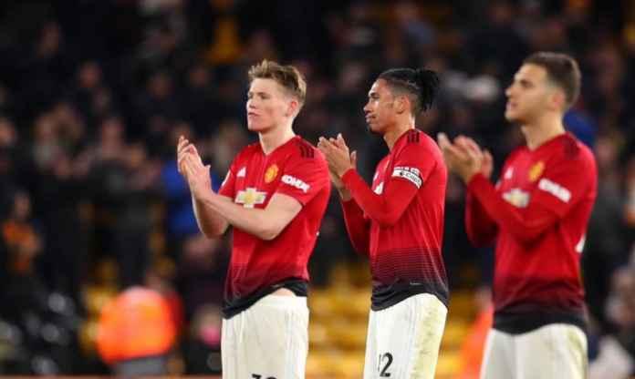 Pemain Manchester United saat melawan Wolverhampton