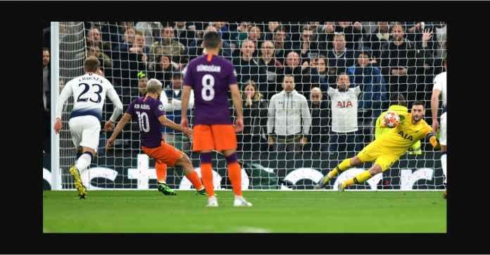 Sergio Aguero Buang Satu Gol Tandang Penting di Kandang Tottenham