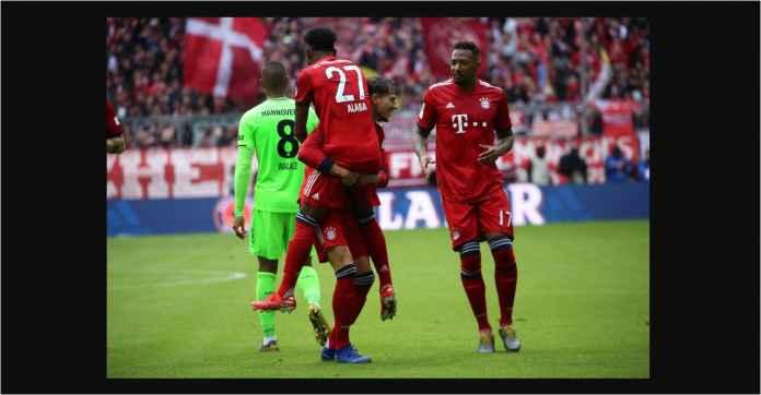 Hasil Bayern Munchen vs Hannover 3-1, Die Roten Menjauh Lima Poin!