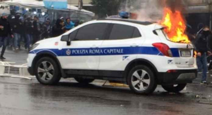 Kerusuhan Suporter Ultras Lazio di Final Coppa Italia antara Atalanta vs Lazio