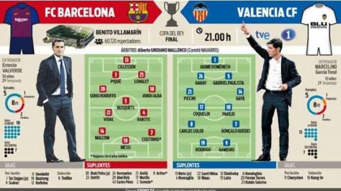 Barcelona vs Valencia, Amankan Trofi Kedua Musim Ini