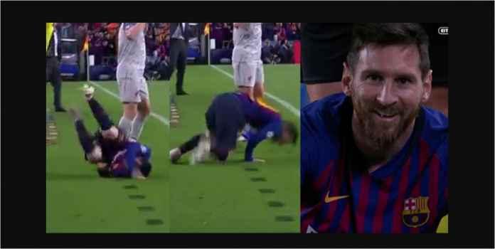 Lihat Lionel Messi Diving Seperti Neymar Tapi Gagal 100%