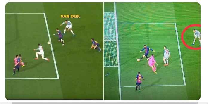 Lihat Virgil Van Dijk Teriak-teriak Minta Tolong Hadapi Lionel Messi