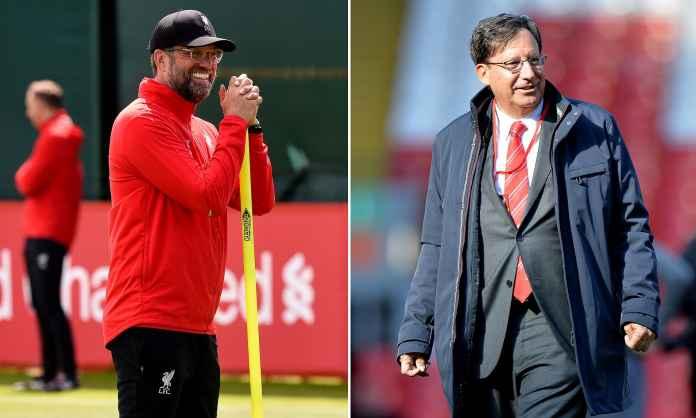 Manajer Liverpool Jurgen Klopp dan Tom Werner sang juragan