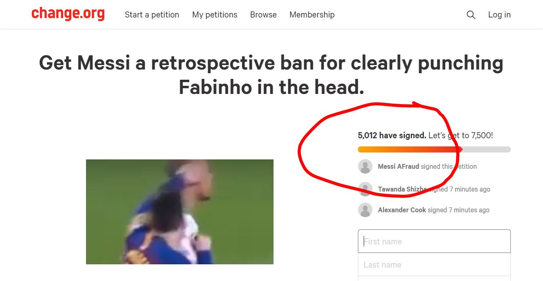 Sudah 5.012 Orang Desak UEFA Diskualifikasi Lionel Messi Dari Leg Kedua