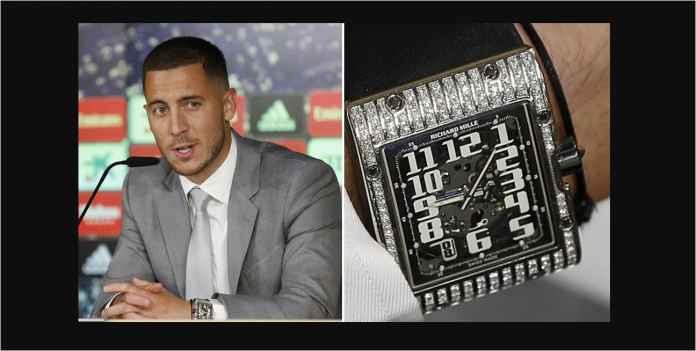 Eden Hazard menggunakan satu miliar arloji tetapi tanggalnya luar biasa