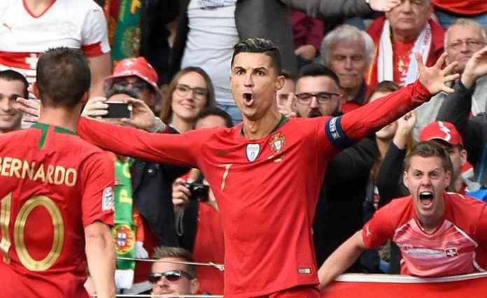 Cristiano Ronaldo cetak gol - Hasil Portugal vs Swiss