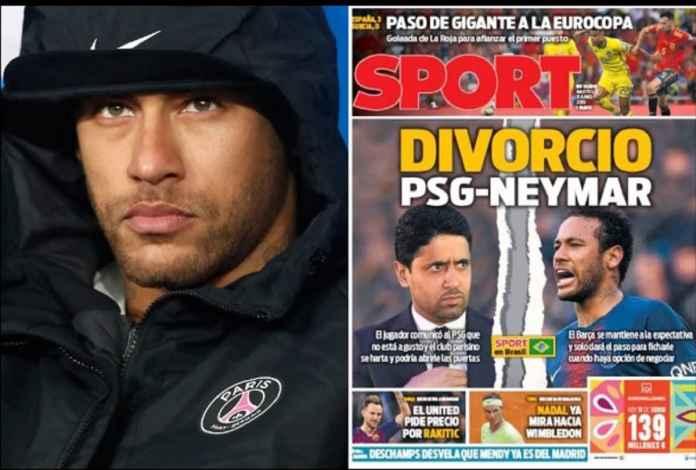 Neymar Segera Resmi Bercerai dari PSG