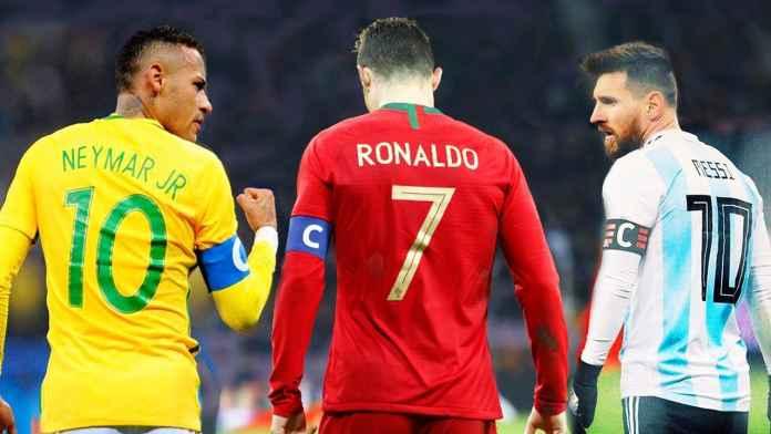 Lionel Messi Ronaldo dan Neymar merupakan tiga besar atlet dengan pendapatan tertinggi