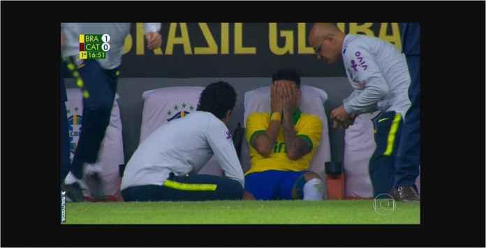 Neymar Menangis Cedera Lagi Pada Laga Persahabatan Versus Qatar