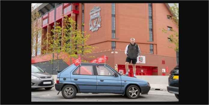 Pesawat Mahal, Fans Liverpool Ini Naiki Mobil Hampir Rontok ke Madrid