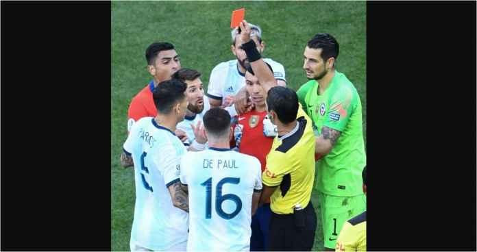 Lionel Messi Kena Kartu Merah Lawan Chile!