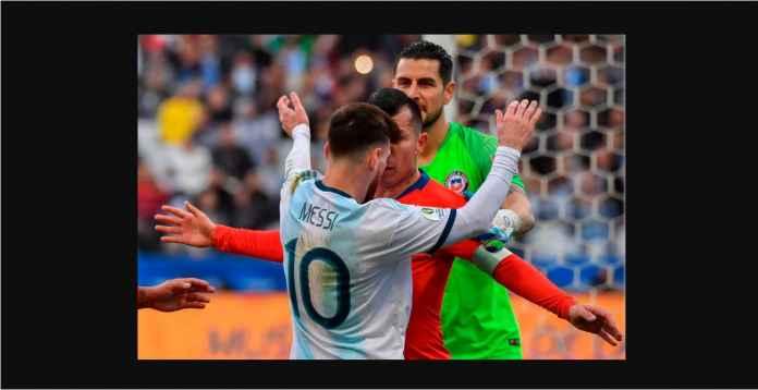 Hasil Argentina vs Chile 2-1 Diwarnai Pengusiran Lionel Messi