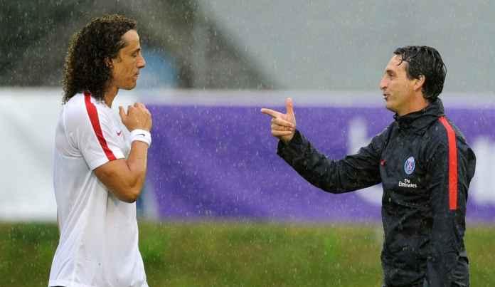 David Luiz dan Unai Emery pelatih Arsenal