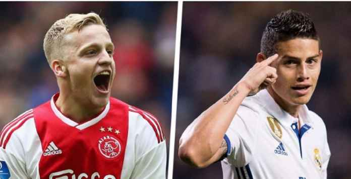 Real Madrid: Donny van de Beek Datang, James Rodriguez Keluar