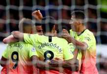 Hasil pertandingan Liga Inggris antara Everton vs Manchester City - Gabriel Jesus